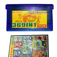 369 in 1 Game Cartridge Multicart for GBA NDS GBA SP GBM NDS NDSL