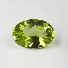 8x6mm OVAL FACETED GENUINE PARROT GREEN PERIDOT LOOSE GEMSTONE
