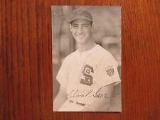ORVAL GROVE  Chicago White  Sox Signed 3 1/2 x 5 1/2 Rowe Postcard(Died in-1992)