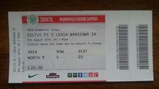 Ticket CELTIC GLASGOW - LEGIA WARSAW Champions League 2014/15 Scotland Poland