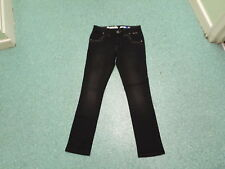 "Bench Florence Slim Jeans Waist 26"" Leg 30"" Black Faded Ladies Jeans"