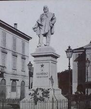 Giuseppe Garibaldi, Magic Lantern Glass Slide,Statue in Lecco, Lake Como, Italy