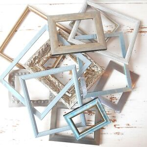 Set of TWELVE Empty Picture Frames. Gallery Wall Collage Open Backed Frame Set.