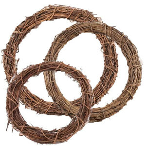 Natural Wood Vine Round Wreath Base for Floristry Crafts | Choice of Size