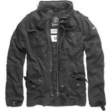 Brandit Men's Britannia Jacket Men Field M65 Style From Cotton M-65 Black XL