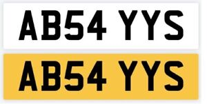 ABEY STYLE PRIVATE NUMBER PLATE: AHBE ABE AIHBE ABEY AIAHBE AIABE -REG AB54 YYS