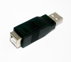 USB 2.0 Adapter Typ A Stecker -> USB B-Buchse Kupplung Hi-Speed Verbinder