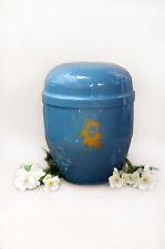 INFANTIL METAL AZUL incineración urn.funeral Urna para Cenizas Pequeño Metálico