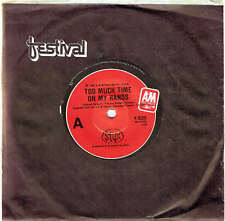 """STYX - TOO MUCH TIME ON MY HANDS - 7"""" 45 VINYL RECORD - 1980"""