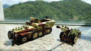 WWII German Sd.Kfz. 251 half track pak 40 World War 2 WW2 MOC Germany vehicle