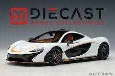 AUTOart 76064 McLaren P1 (Alaskan Diamond White/Black Accent) 1:18TH Scale
