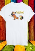 Augie Doggie and Doggie Daddy Funny Dog Cartoon Men Women Unisex T-shirt 841