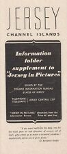 Jersey Channel Islands Information Folder Supplement to Jersey in Pictures 1947