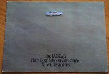 Jaguar XJ XJ6 3.4 4.2 XJ12 5.3 Brochure