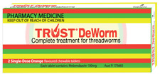 * TRUST DEWORM COMPLETE TREATMENT FOR THREADWORMS 2 SINGLE-DOSE TABLETS ORANGE