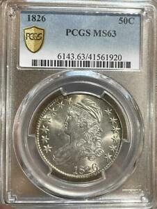 1826 Capped Bust Half Dollar 50 Cent ~ PCGS MS 63