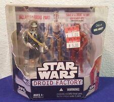 NIP 2008 Star Wars 30th Droid Factory 2 Pack Set 3 of 6 Han HOTH  R-3PO