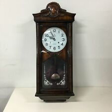 Zenon Grandfather 31 Day Wall Clock With Pendulum Made in Korea 86cm Tall #710