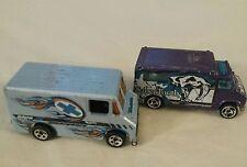2 Hot Wheels 1986 Blue X Emergency Van and 1988 SaberTooth Emergency Vehicle