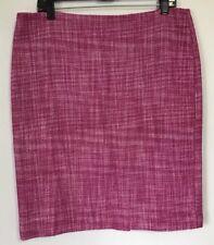 Talbots Womens Magenta White Tweed Lined Straight Pencil Skirt 14 Petite $69
