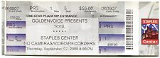 TOOL 9/7/2006 10,000 Days Tour Concert Ticket!! Los Angeles,CA 2006 #3 STAPLES