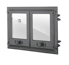 Backofentür Ofentür Pizzaofentür Holzofentür Gusseisen Thermometer Glas 675x480