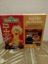 Lot 2 Sesame Street VHS Vintage RARE Sing Hoot & Howl & Don't Eat the Pictures