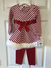 Bonnie Jean Girls Size 2T Holiday 2 Piece Outfit...NWT