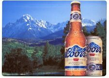 Coors Banquet Beer  - Large METAL fridge magnet - Rocky Mountains