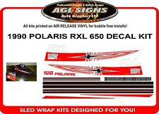 1990 POLARIS INDY RXL 650 DECALS graphics Reproduction