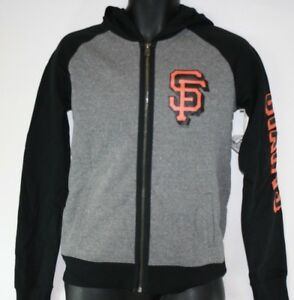 NEW Womens MLB San Francisco Giants '47 Brand Full Zip Up Fleece Hoodie Jacket