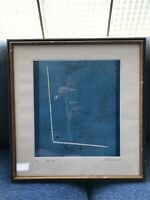 Giuseppe Santomaso, BLUE SPACE, 1968, limited edition 18/110 lithograph