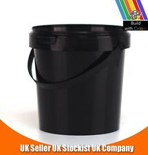 Multi Purpose 2.5L Plastic Bucket with Lid Storage Toys Paint Decorator Builders