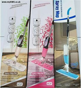 650ml New Spray Mop Water Spraying Floor Cleaner Tiles Microfibre Marble Kitchen