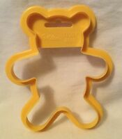 "Wilton 1989 Cookie Cutter - Large Yellow Teddy Bear - 4 3/4"" Christmas"