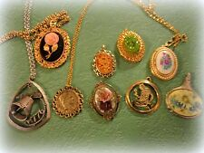 Vntg Lot Locket Necklaces Coventry Avon Chains Lot of 8 Vintage Necklaces Locket