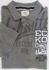 NWT Ecko Unltd. EU Trademark Logo Polo Mesh Short Sleeve Heather Gray Size XXL