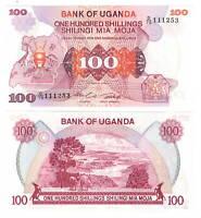 UGANDA 100 Shillings (1982) P-19b UNC Banknote