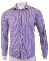 TED BAKER Mens Shirt Medium Purple Striped Cotton  FH13