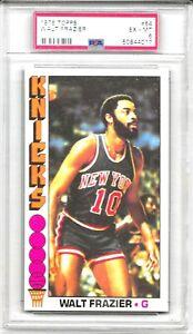 1976 - 77 Topps WALT FRAZIER # 64 PSA 6 EX-MT HOF New York  Knicks