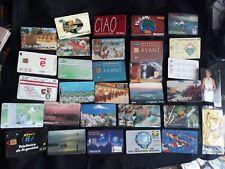 2) lotto di 34 schede telefoniche straniere phone card anni 90