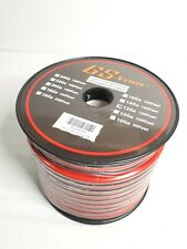 12 Ga Gauge 100 Feet CCA Copper Clad Aluminum Red Black 2 Conductor Zip Cable