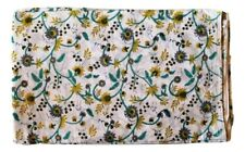 Indian Hand Block Print Cotton Fabric Natural Printed Handmade Sanganeri Florwer