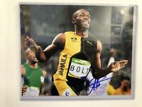 098562ee2848 Usain Bolt Hand Signed 8x10 Photo W  JSA COA Jamaica Olympics Lightning 11