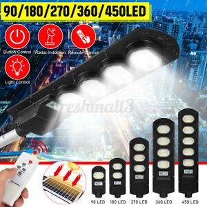 4500W LED Solar Street Light PIR Motion Sensor Wall Lamp+Timing Control IP65 R