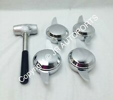 4 Swept Smooth 2 Bar 2 Way chrome Knock Offs Spinners wire wheels Dayton Type