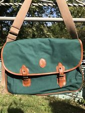 Vintage Polo Ralph Lauren Canvas Laptop Bag Green Over The Shoulder Usa Bear