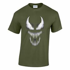 Venom Marvel Horror Long Teeth Mens Comic T Shirt Spide Man Gift Unisex T-shirt