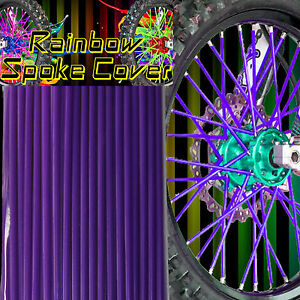 SALE !! Speichen Spoke cover Spoke style Ribbs Speichen Lila Rainbow 36 Stck!