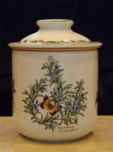 Royal Worcester Herbs Large Flour Sugar Canister PICTURES WITHIN DESCRIPTION